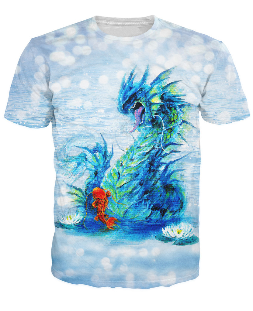 Free Shipping Vibrant Gyarados T-<font><b>Shirt</b></font> Popular Japanese <font><b>Anime</b></font> <font><b>Sexy</b></font> T <font><b>Shirt</b></font> Women Men Tops Summer Style Casual Tees image
