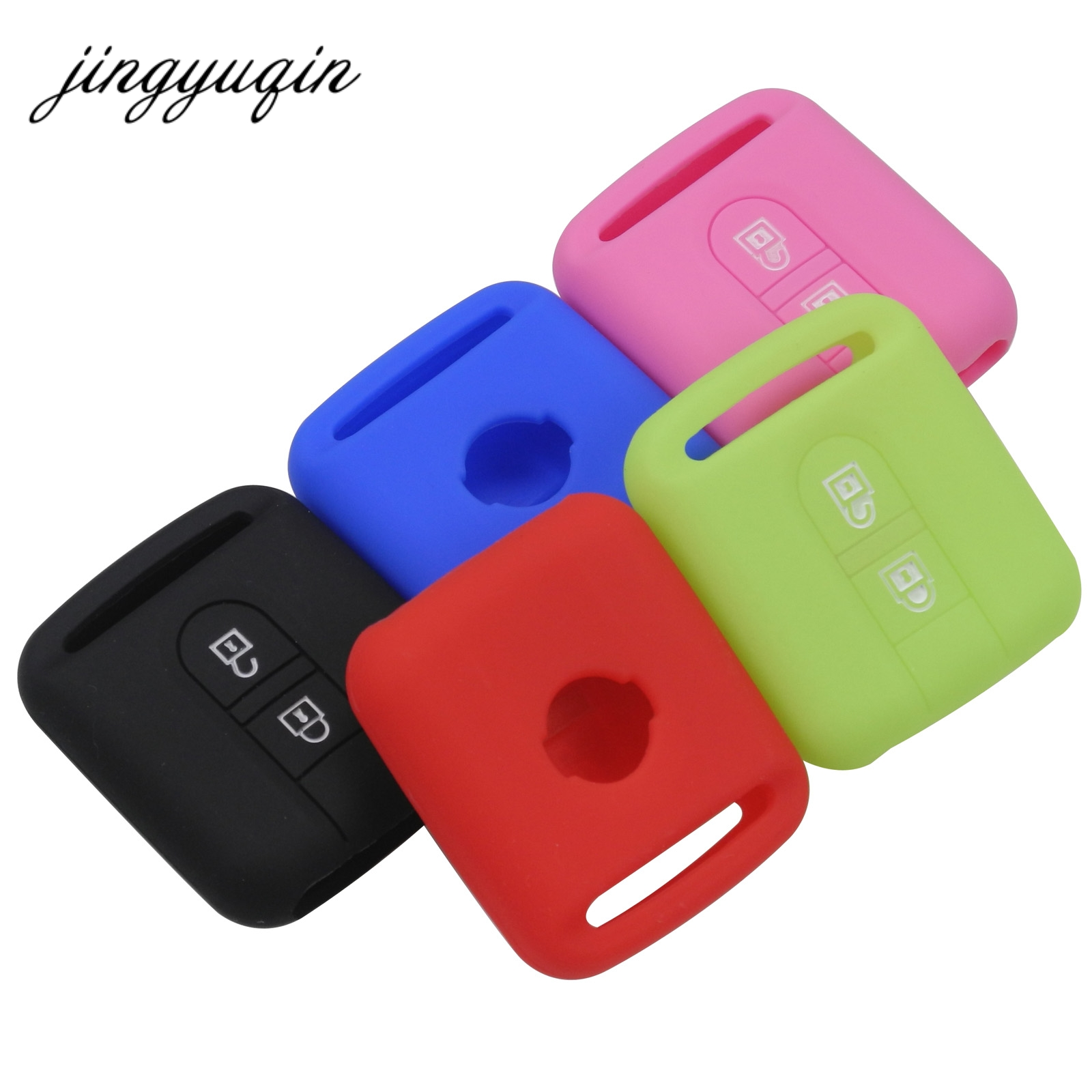 Jingyuqin Remote Car Key Silicone Case For Qashqai Nissan Micra Navara Almera Note Fob Rubber Cover 2 Button