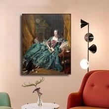 Laeacco Canvas Painting Calligraphy Classic Francois Boucher Wall Art Madame de Pompadour Posters and Prints Living Room Decor madame de pompadour