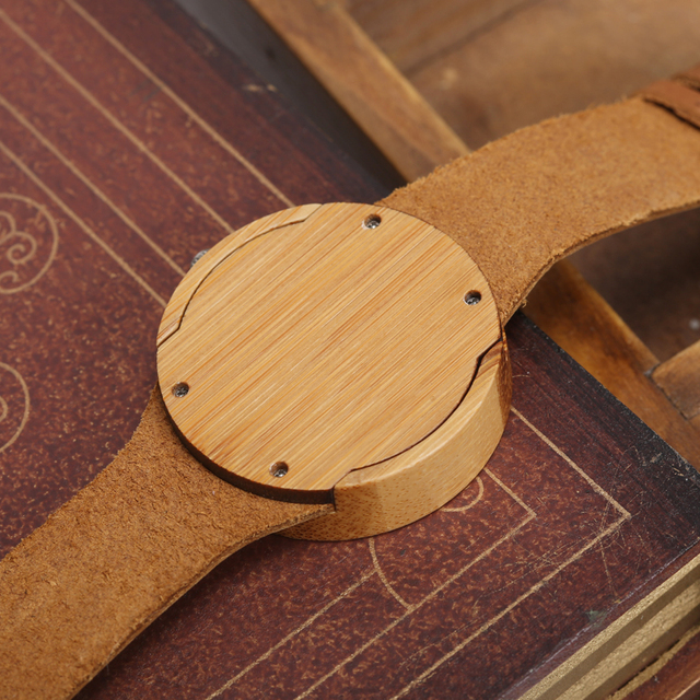 2017 GORBEN Brand Fashion Bamboo Ladies Wooden Watches For Women Luxury Royal Blue Green Shining Dial Leather Top Womens Watches 4