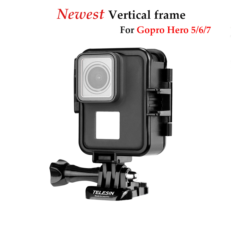 New protective Vertical frame shell Protector Mount standard Border Frame for go pro hero 7 6 5 black gopro7 camera accessories New protective Vertical frame shell Protector Mount standard Border Frame for go pro hero 7 6 5 black gopro7 camera accessories