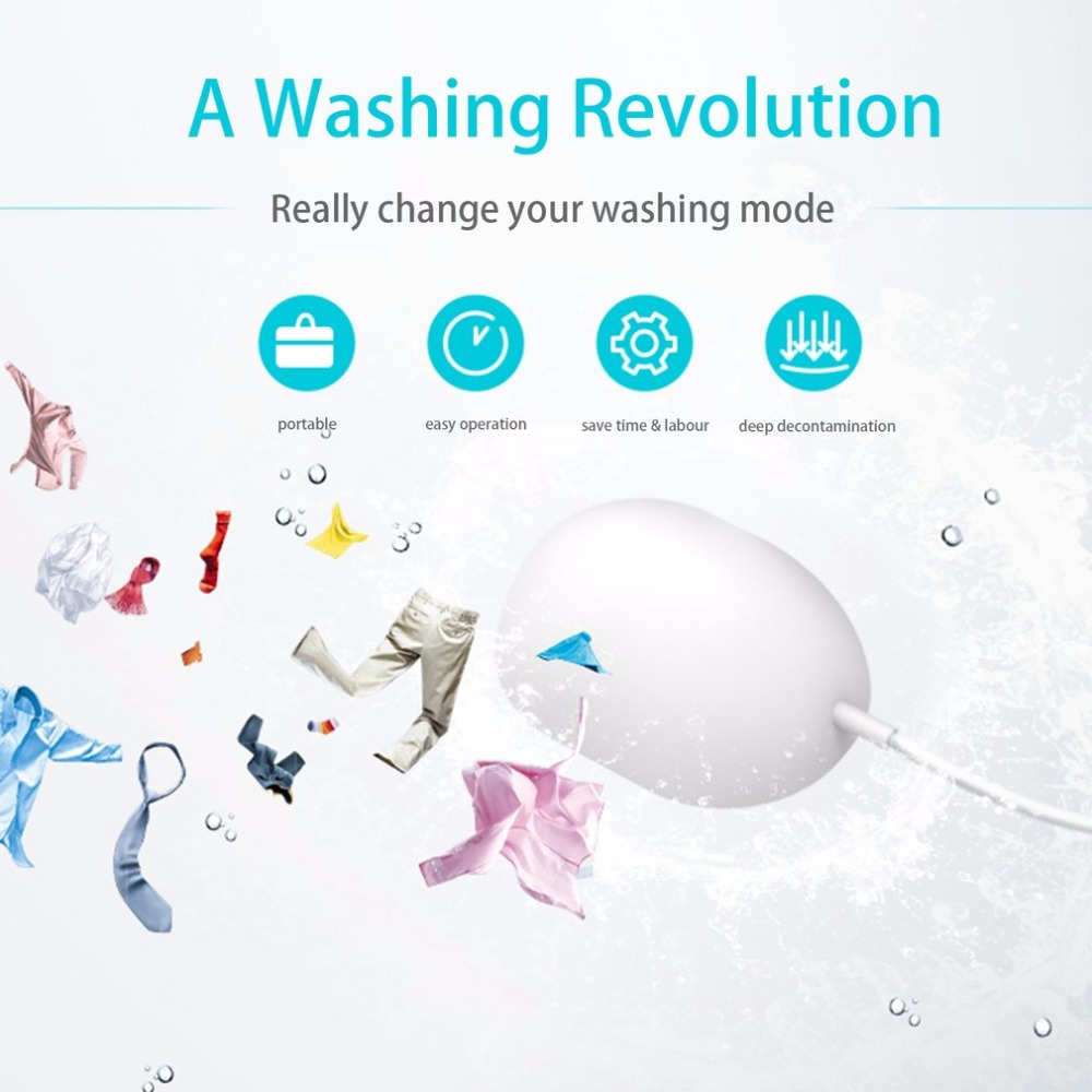 Universal Portable Mini Laundry Device Household Ultrasonic Washing Machine Saving Time Deep Cleaning For Travel Device household portable lunch picnic handbag deep blue black