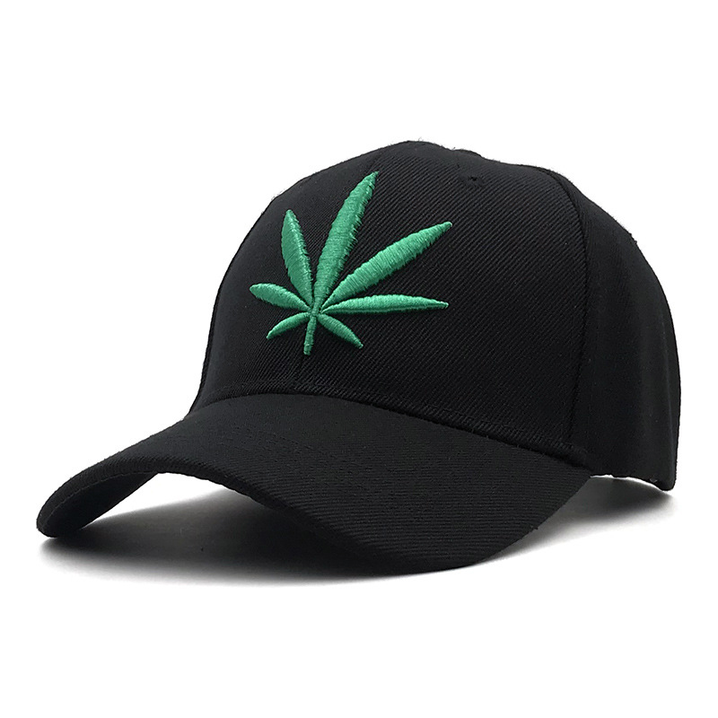 New Fashion   Baseball     Cap   Men Women Leisure Sports Visor   Cap   Adjustable Black   Cap   Hemp Leaf Embroidery Dad Hat бейсболки BQM04