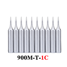 10pcs/lot Lead-free Soldering Iron Tips 900M-T-1C Metal Replacement Welding Head For 936 Soldering Station