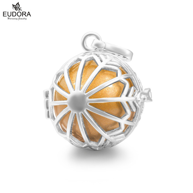 Aliexpress buy h247 angel jewelry copper cage pendant for 20mm h247 angel jewelry copper cage pendant for 20mm eudora harmony ball with sounds snowflake locket necklace aloadofball Images