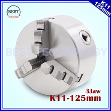 K11 125mm 3 jaw Chuck self centering manual chuck four jaw for CNC Engraving Milling machine