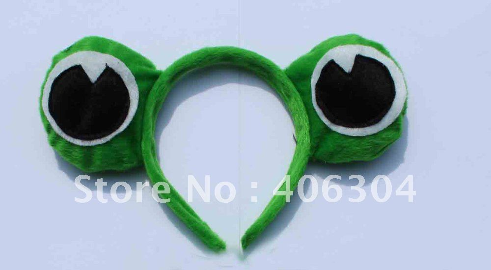 Free shipping,,animal ear headband frog ear headband hairband,Party headband,Frog Prince