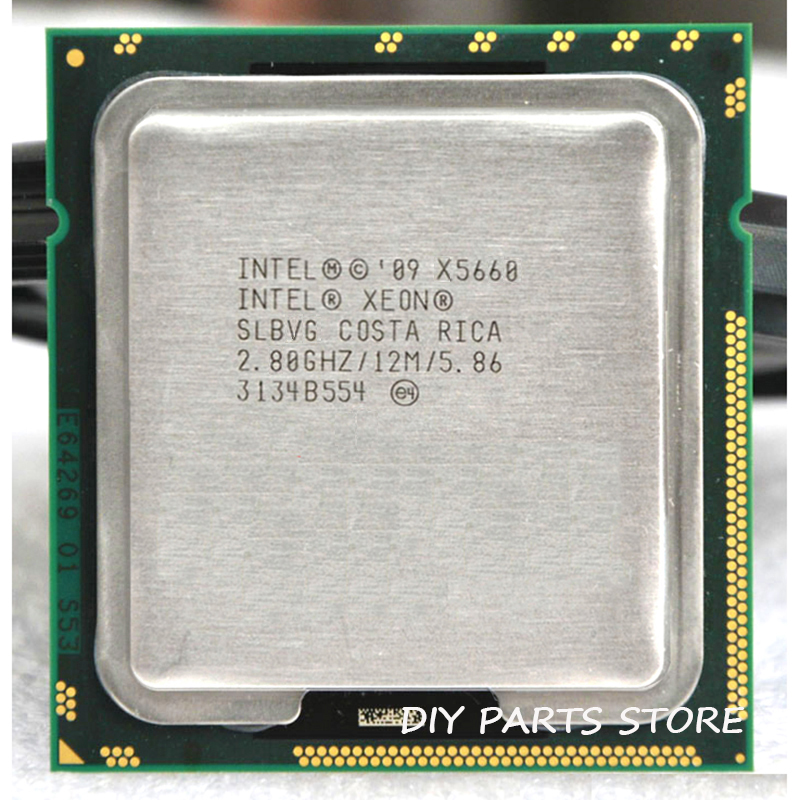 INTEL XONE X5660 Six core 2.8 MHZ LeveL2 12 M 6 core TRAVAIL POUR lga 1366 montherboard
