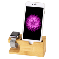 For Apple Watch Stand Wood Charger Holder Genuine Natural Bamboo Luxury Stand Holder For IPhone 6