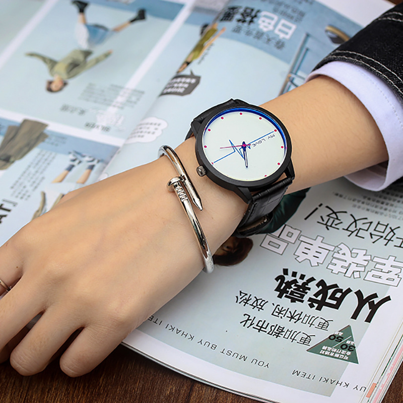Fashion Couple Watches Women Lover Wrist Quartz Watch Casual MY LOVE Men Wrist Ladies Clock Gift For Girls Hour Relogio Femenino