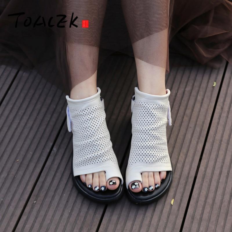 الصيف الصنادل ، المرأة المنحدرات و سميكة باطن الأحذية ، الإناث جلد حذاء كاجوال ، الإناث شخصية اصبع القدم فتاة الباردة السحب-في كعب عالي من أحذية على  مجموعة 1