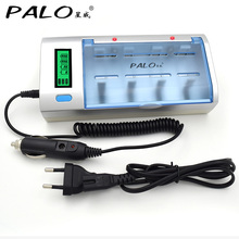C906W Multi Usage 4 Slots LCD Display Battery Charger For Nimh Nicd AA/AAA/SC/C/D/9V Rechargeable battery