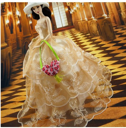 Prime quality Handmade Presents For Women large fairly Marriage ceremony Gown Garments For Barbie 1:6 Doll BBI00241