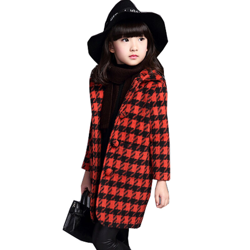 Aliexpress.com : Buy New Girls Winter Coats Fashion Plaid Long ...