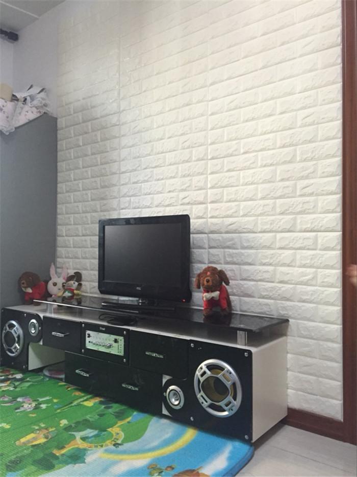 PCV 3D salon mur ceglany wzór tapety stickie dormitorium sypialnia retro wzór tapety adhesive392-F cegły 42