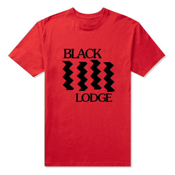 T Shirt Mens Twin Peaks Black Lodge Flag Tee Shirt Accept Customized Cotton