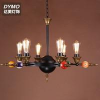 American Nordic Billiard table pendant lamp droplight vintage iron glass shade bedroom dining room cafe restaurant pendant light