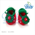 Fashion Newborn Baby Crochet Shoe Infant Knitting Baby Girl Shoe Pearl Strawberry First Walker Shoe Spring/Summer/Autumn/Winnter