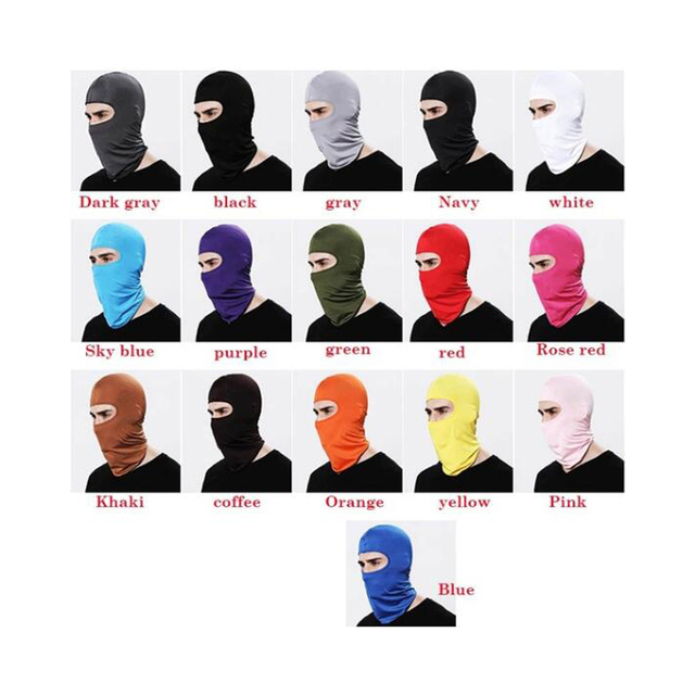 Motorcycle Face Mask Cycling Ski Neck Balaclava Full Face Hat Mask Cover Winter Warm Outdoor Windproof Breathable Mask 2