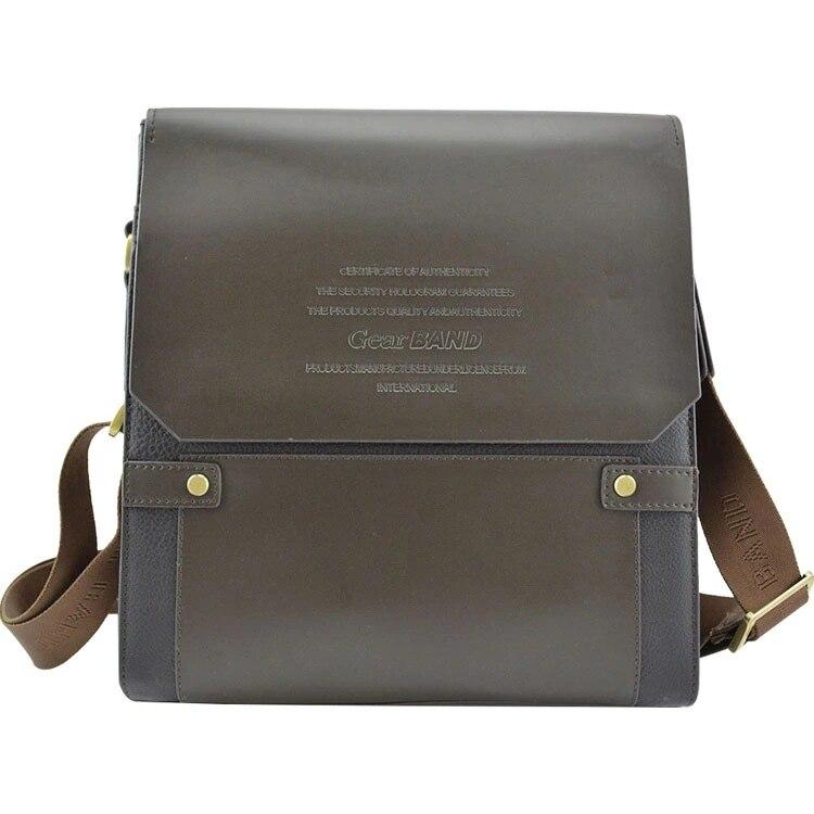 FASHION New Designer Composite Leather Quality Men Messenger Bag Shoulder Handbag Briefcase fashion anchor printed square new composite linen blend pillow case