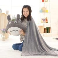 Cartoon Totoro Pillow Toy Animation Surrounding Miyazaki Hayao Totoro Lunch Break Air Conditioning Blanket Multi functional Blan