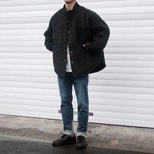2019 Зимняя Мужская утолщение парки вельвет одежда пальто свободного кроя куртка модного бренда Повседневное хлопка теплая верхняя одежда S-XL