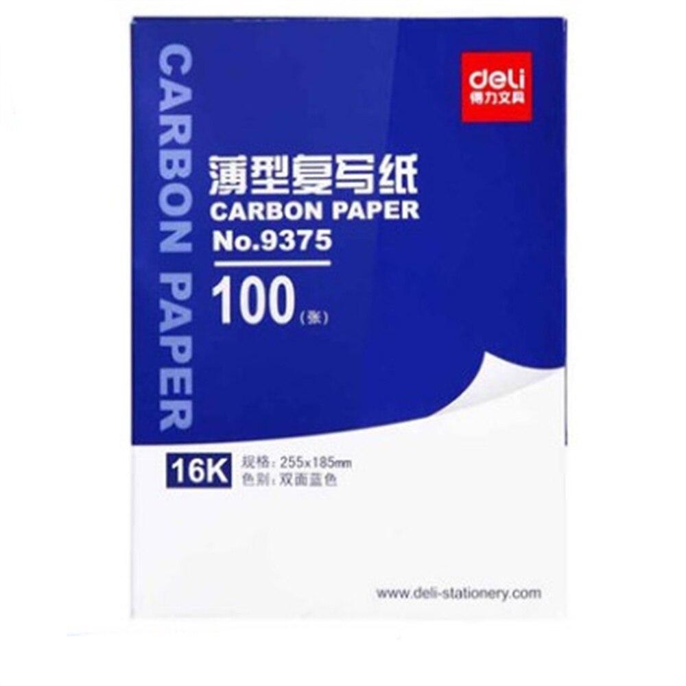 100pcs/box  9374 32K 18.5cmX12.7cm Blue Carbon Stencil Transfer Paper Double Sided Hand Pro Copier Tracing Hectograph Repro