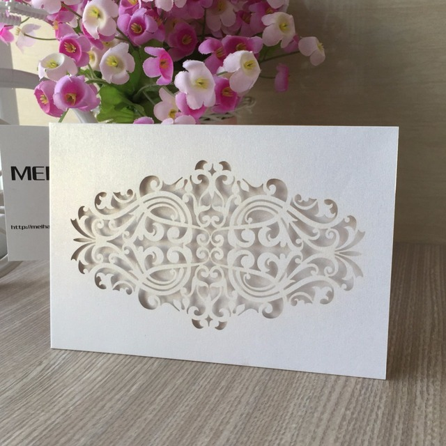 20Pcs lot Free Shipping Unique Laser Cut Wedding Invitation Cards ... 0bbb75b4d3ea