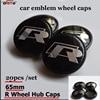 20pcs 65MM Badge emblem Car Wheel center hub Logo Cover Car Rim Cap for VW R Passat B6 B7 CC Golf Jetta MK5 MK6 car-styling