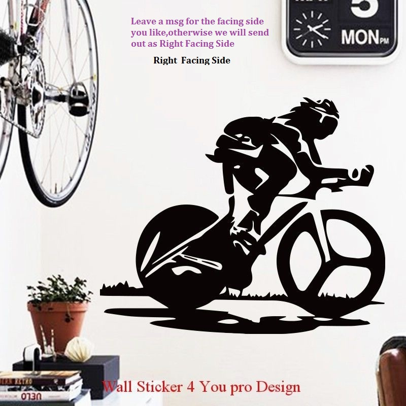 Bike Wall Sticker Sport Bicycle Cycle Bike Mural Art Pvc Wall Sticker Bike Wall Decal Room Bedroom Decorative Home Decoration ...