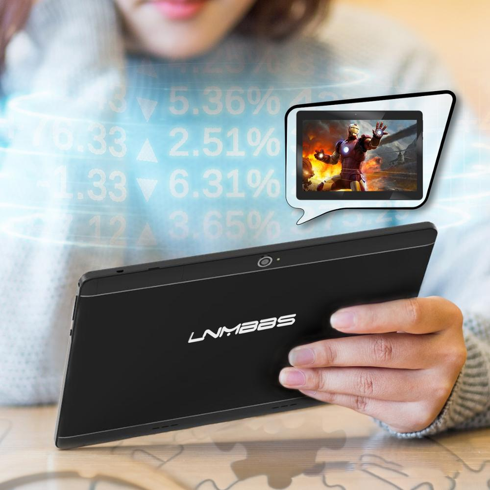 LNMBBS tablet 10.1 Android 5.1 tablets dual cameras 2 SIMS 3G Phone call function 8 core cards IPS 5MP 1+16GB metal new phablets