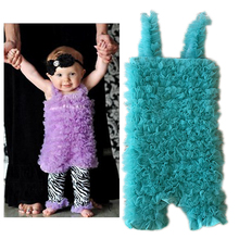 Solid Colors Summer Baby Girls Chiffon Ruffle Bubble Romper Ruffle Romper Short Toddler Rompers недорого