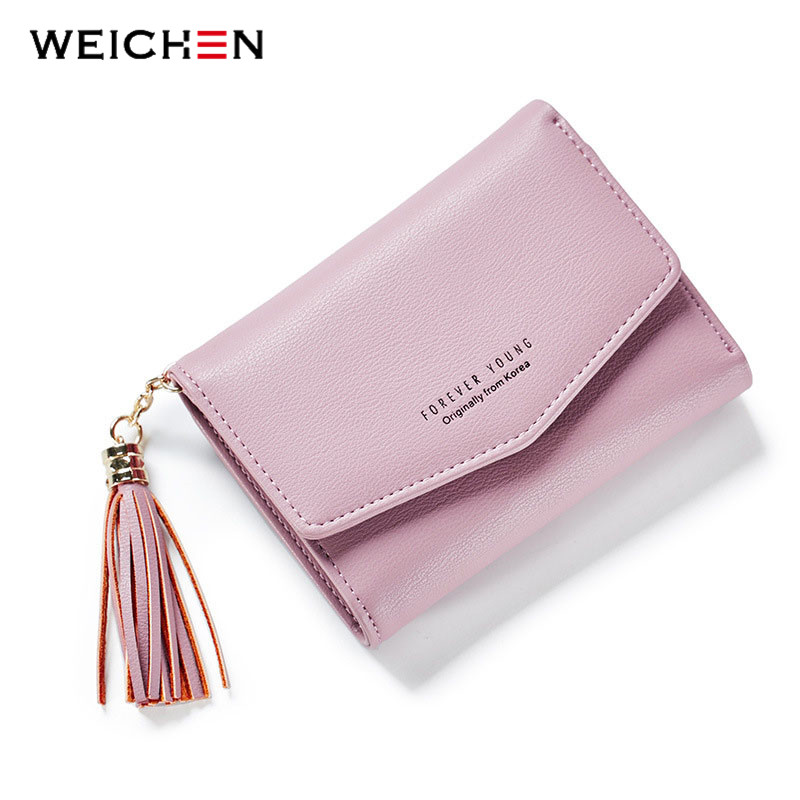 WEICHEN Korean Style Small Tassel Women Clutch Wallets Female Mini Wallet Multifunction Women Coin Purse Hasp Brand Money Bags rs485 hub 2 hub 485 switch 232 converter optical isolation industrial grade dt 9022i