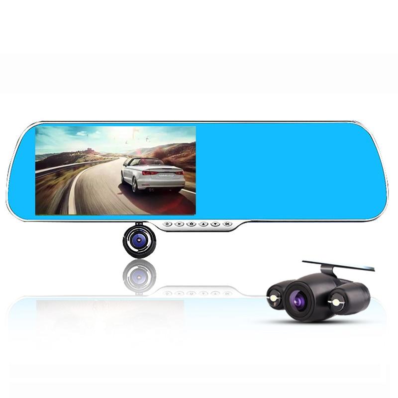5.0 Full HD 1080P 1092*1080 Car Camera DVR Rearview Mirror Dual Lens Video Recorder Night Vision Looping Recording Black Box
