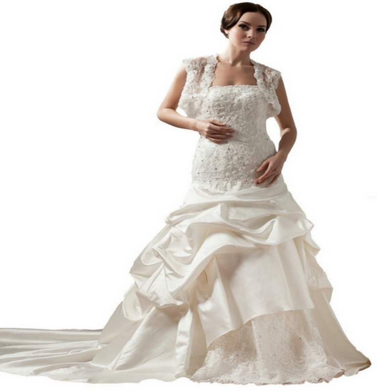 2015 White Women Plus Size Muslim Wedding Dresses Size 30 With ...