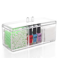 New Fashion Makeup Organizer Cosmetic Acrylic Clear Case Display Box Jewelry Storage Holder Or Casket Retail