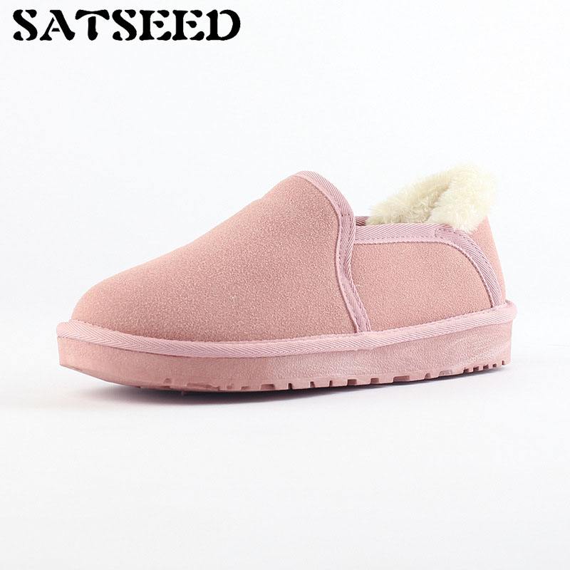 2018 winter new snow boots suede womens boots lovely shoes big size boots warm and plush Japanese trend womens boots