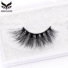 AMAOLASH False Eyelashes 3D Mink Lashes High Volume Fluffy Long Lasting Natural Full Stripe J033
