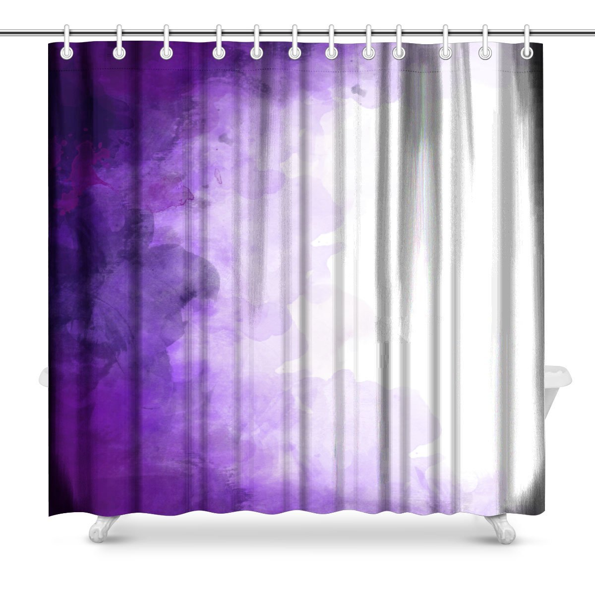 Abstract Purple Bathroom Shower Curtain Accessories 72 Inches Extra Long In Curtains From Home Garden On Aliexpress