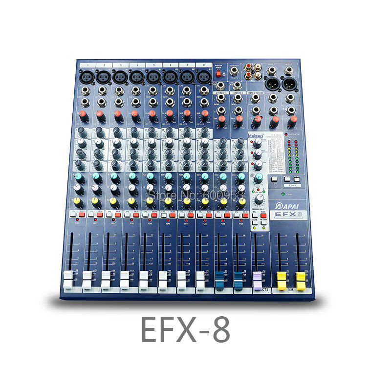 Professional EFX8 8 Channel Karaoke Microphone Sound Mixer Mixing Console Processor felyby karaoke mixer tv k song k song karaoke tv karaoke multi functional analog sound console