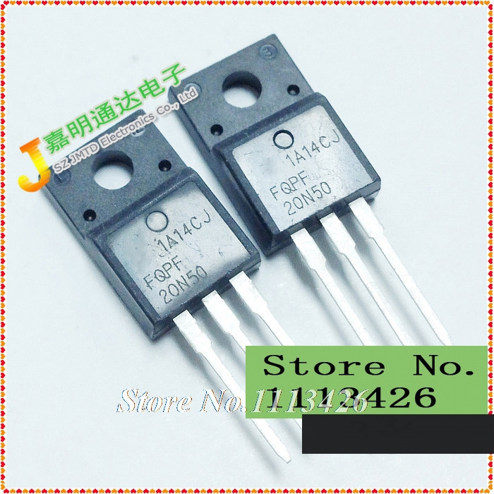 Free shipping 10pcs/lot FQPF20N50 20N50 TO-220F N-channel field effect 500V 20A new original