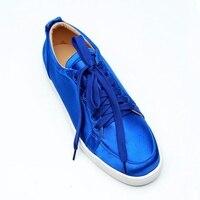 LTTL/королевский синий повседневные мужские туфли Туфли без каблуков Модные низкие кроссовки на шнуровке Для мужчин дышащие осенние кроссов
