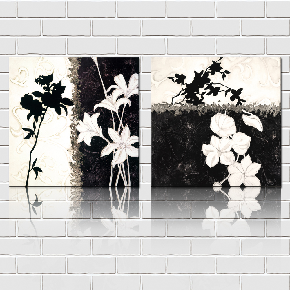 Retro Style Art Oil Painting 2 Pieces Unframed Canvas Prints