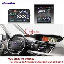 Liandlee For Citroen C4 Aircross Mitsubishi ASX 2016-2018 Safe Driving Screen OBD Car HUD Head Up Display Projector