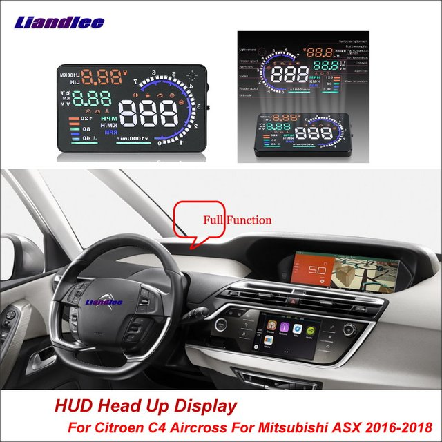 US $49 13 25% OFF Liandlee For Citroen C4 Aircross For Mitsubishi ASX 2016  2018 Safe Driving Screen OBD Car HUD Head Up Display Projector -in Head-up