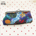 XIYUAN BRAND small Female Wallets with Zipper Coin Bag,Short Purses for ladies,women's retro vintage embroidered purse handbag