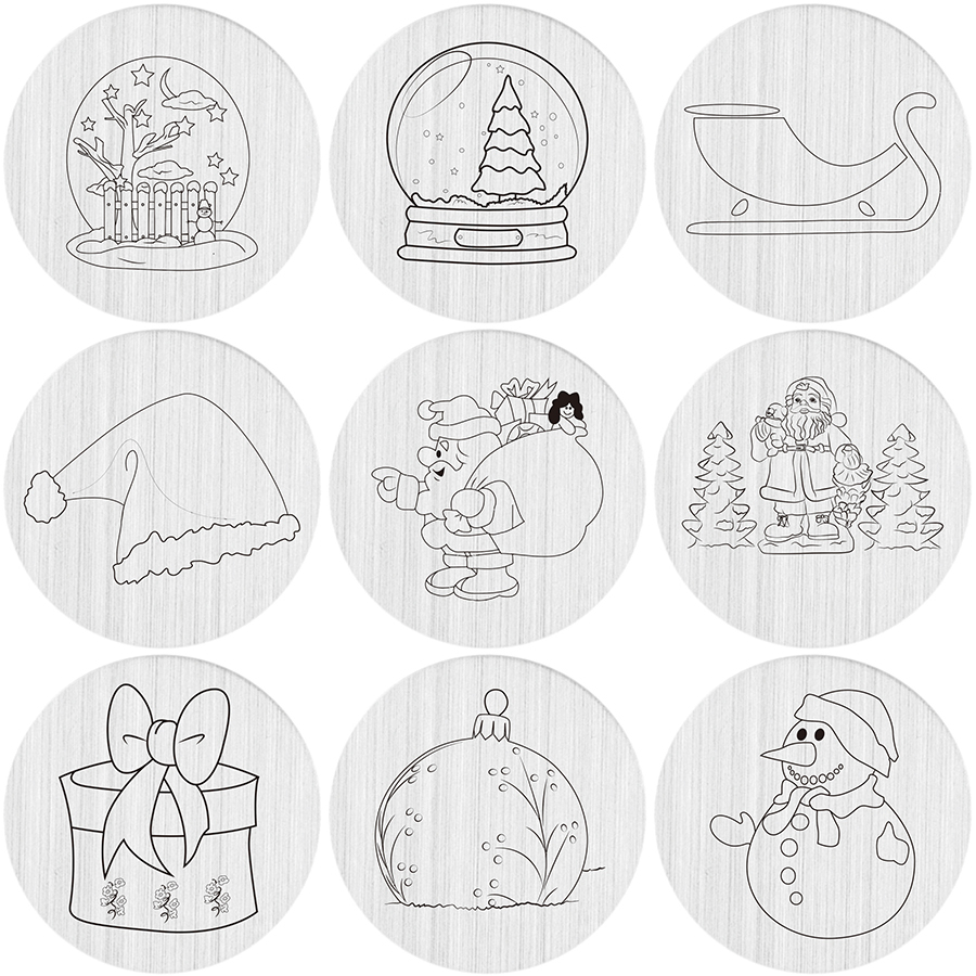 Charms 22mm Stainless Steel Christmas Snowman Hat Sled Santa Series Locket Backplate Floating Locket Plate Exquisite Craftsmanship;