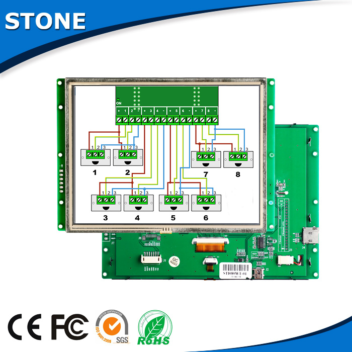 8 Inch Programmable Smart TFT LCD Module Display Resistive Touch Screen For Industrial Control