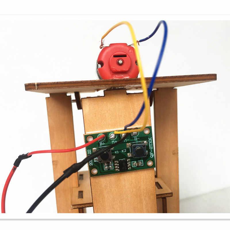 Happyxuan DIY электрический лифт для детей набор юного ученого наборы для экспериментов мальчик игрушка творческий stem-образования инноваций школьного проекта