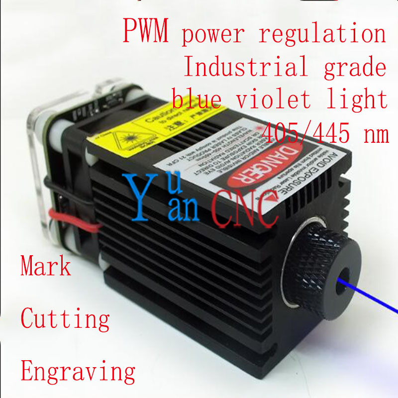 DIY High Power 6500mw Laser Focus 445nm Blue Laser Diode Module, DC: 12V, Fixed focus 18mm,Focus for laser cutting and engraving